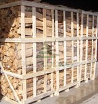Birch firewood in 2 m3 crate